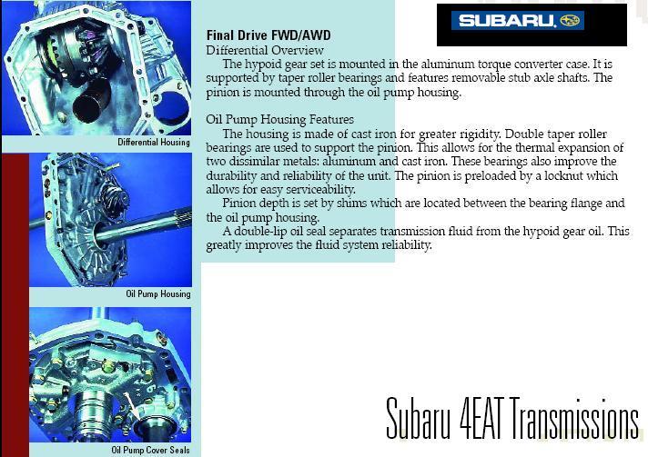 Subaru 4eat Transmission Problems