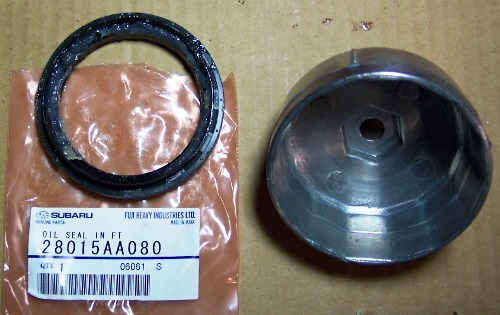 Wheelbearinginnerseal on Subaru Front Bearing Replacement
